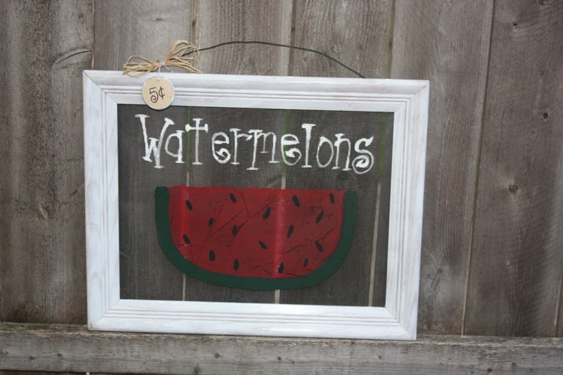 ...and Speaking Of Screens. I Made This One For My Summer Door. I Saw This  Original Painting Design On Gaineru0027s Crafts. I Love This Idea B/c  Watermelon Just ...