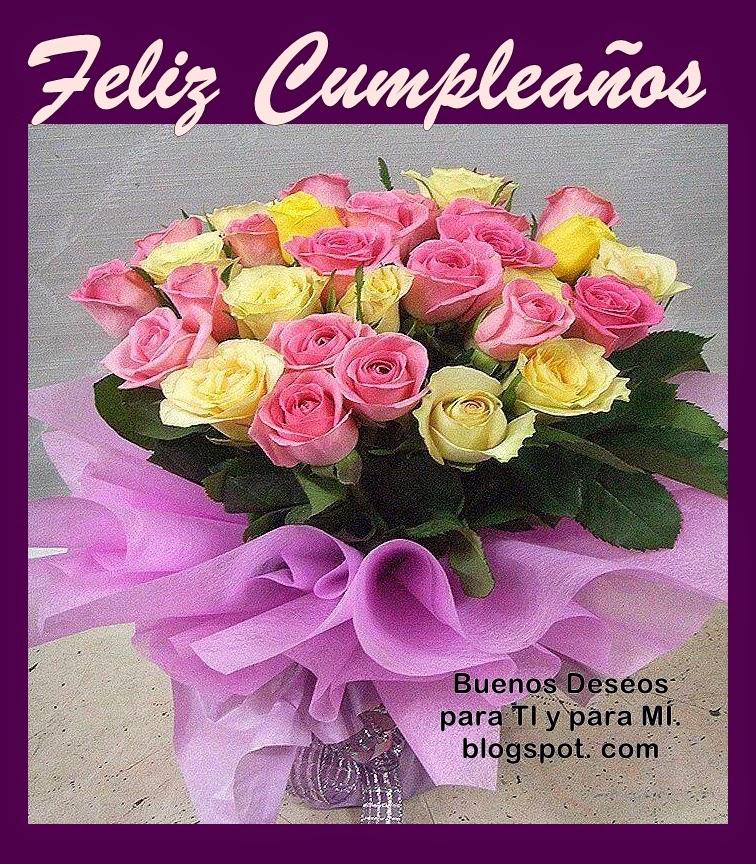Imagenes Para Cumpleaños Con Rosas - Imágenes de Feliz Cumpleaños con Flores ツ Tarjetas y