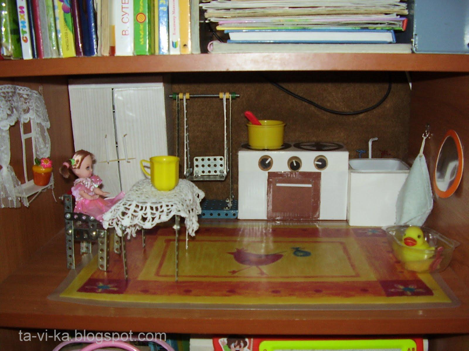Стол для кукол своими руками из подручных материалов 14