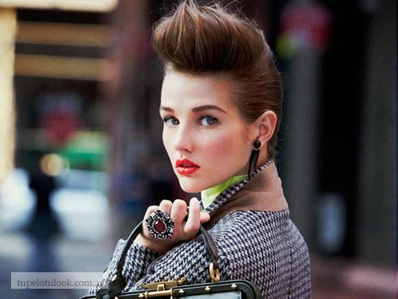 peinados con tupe 2015