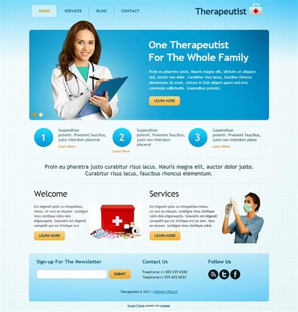 Therapeutist - Free Drupal Theme