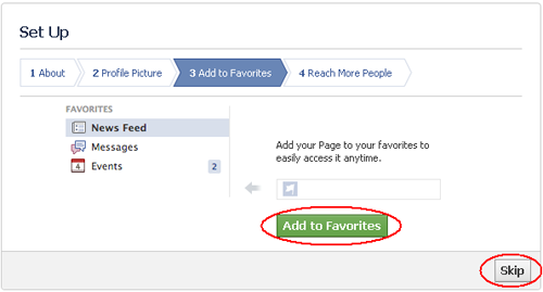 Cara Membuat Fans Page Facebook Favorites