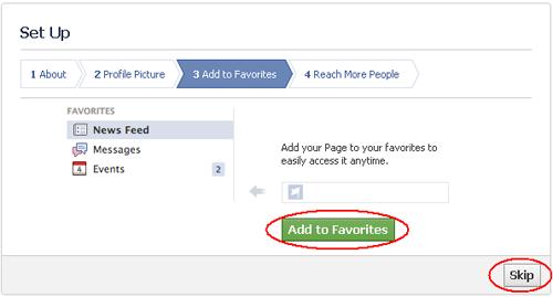 Cara Membuat Fans Page Facebook Favorites