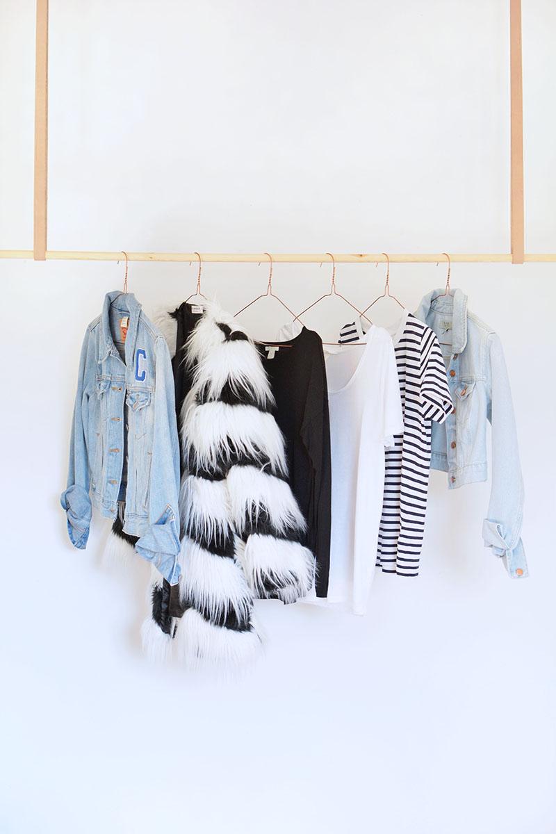 DIY Hanging Clothes Rail | BURKATRON