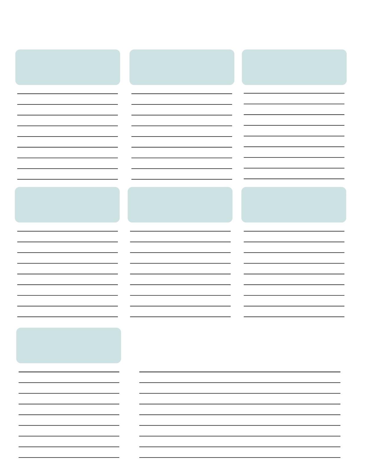 Blank List Printable | www.imgkid.com - The Image Kid Has It!