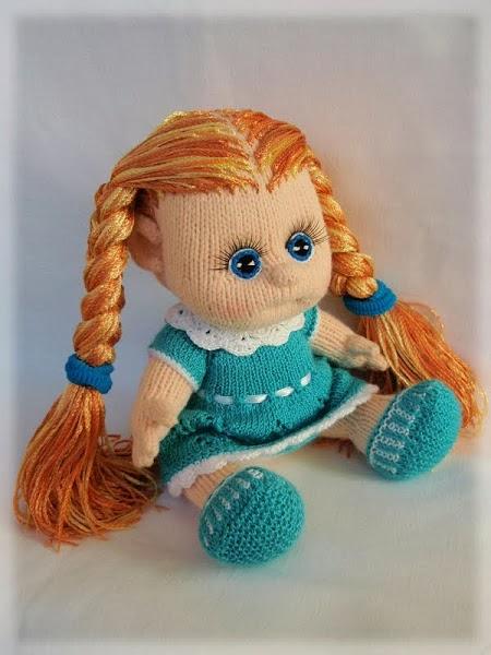 Куклы вязаные спицами.