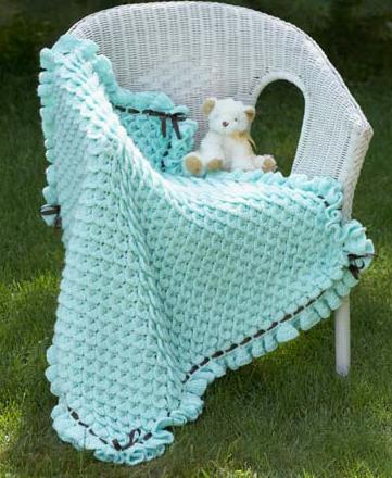 New Pattern ~ Crochet 3D Flower Baby Blanket « Pattern « Zoom Yummy