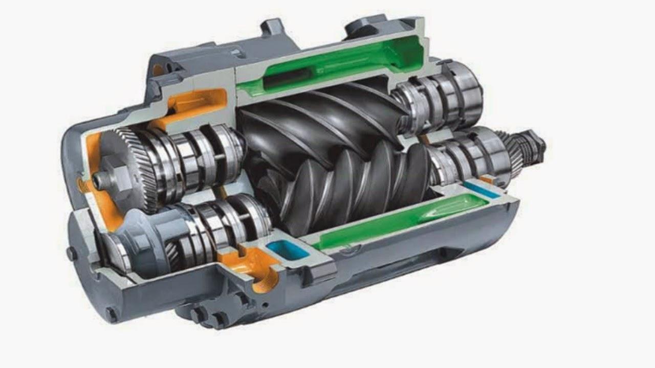 Hvordan virker en skruekompressor