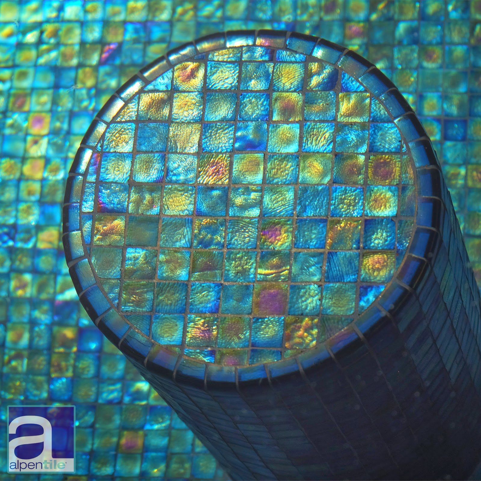 Alpentile Glass Tile Swimming Pools This Glass Mosaic Swimming Pool Has All The Right Details