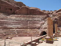 The carved rock Roman Ampitheatre, Petra, Jordan