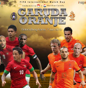 Indonesia vs Belanda 7 Juni 2013