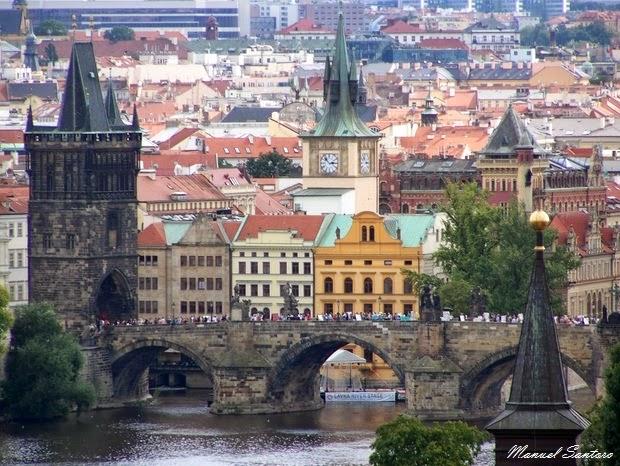 Praga, ponti sul fiume Moldova