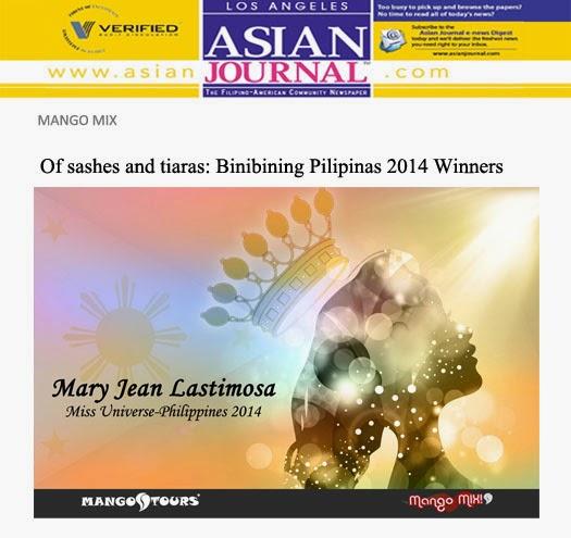 Mary Jean Lastimosa Miss Universe-Philippines 2014
