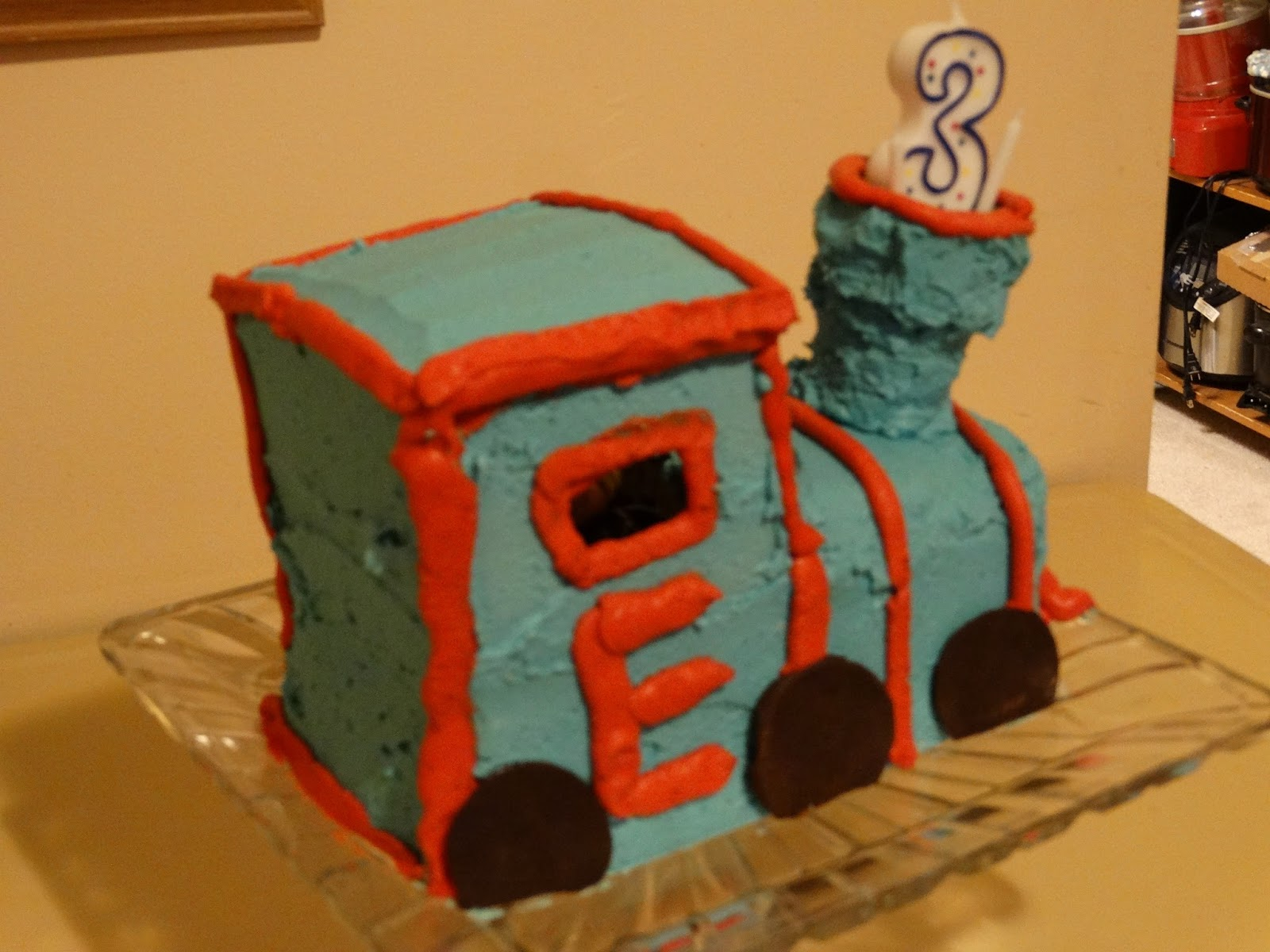 2304 Miles Three Year Old Train Birthday Cake
