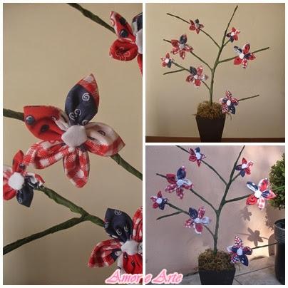 Vaso de flor de fuxico