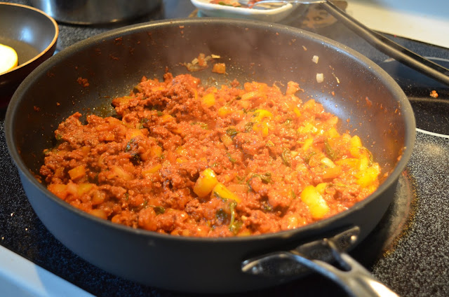 "Whole30 Sloppy Joes on Summer Squash ""Buns"""