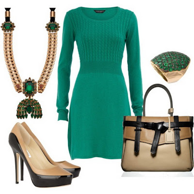 Emerald Green - The Color Of this Winter_fashion2obsession.blogspot.com