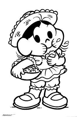 Desenho de Festas Juninas/Turma da Mônica para colorir