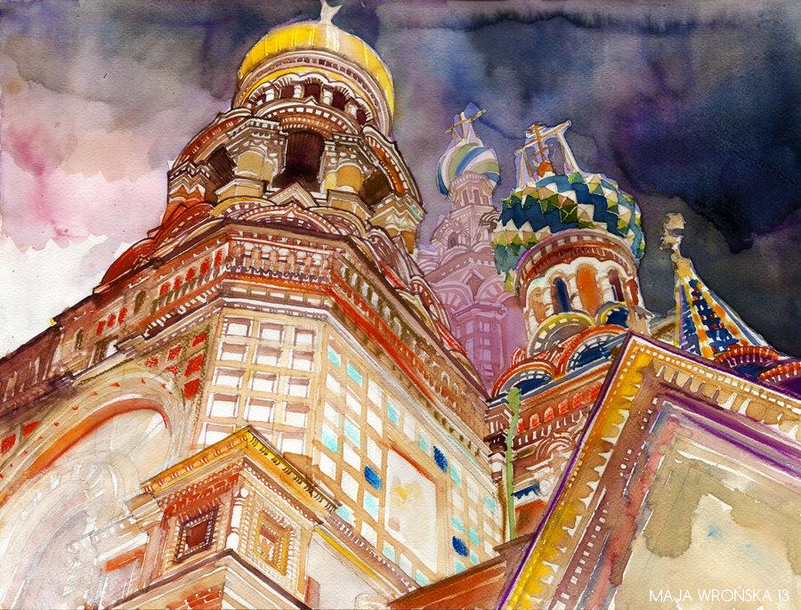 Doctor Ojiplático. Maja Wrońska. Arquitectura y Acuarela | Architectural Watercolor