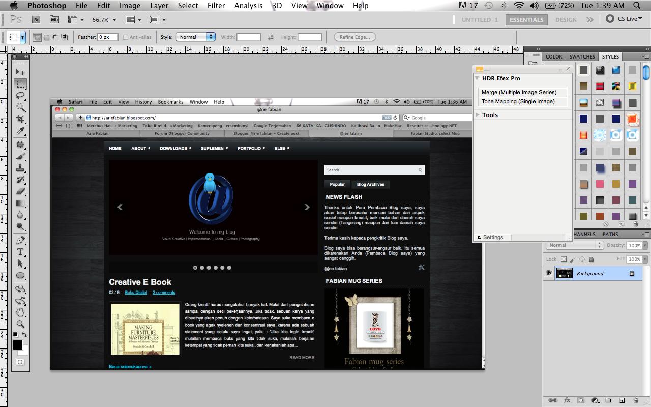 Cara membuat Banner Transparan Pada Photoshop ~ @rie fabian