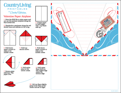 Free Printable Paper Airplane Templates http://www.bedifferentactnormal.com/2012/01/paper-airplane-valentine.html