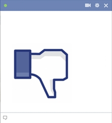 Facebook Dislike Button Emoticon
