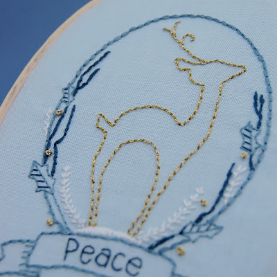 septemberhouse holiday hand embroidery pattern deer