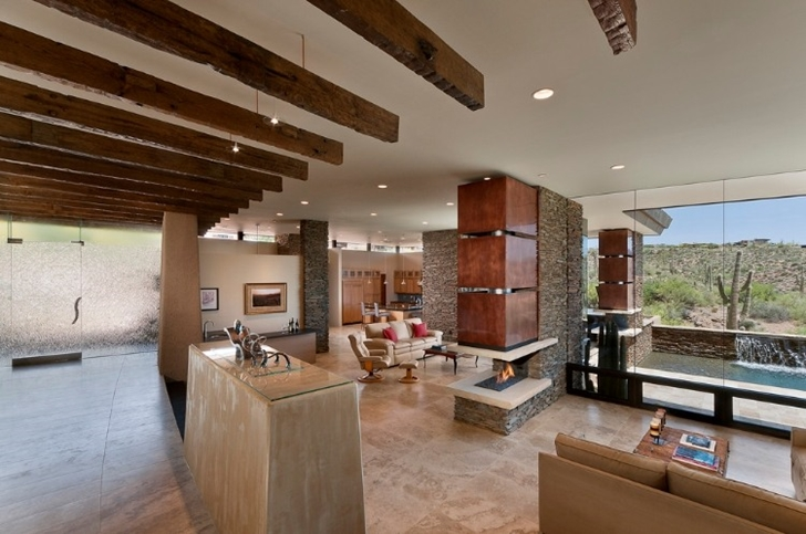 Interior of Modern desert home by Tate Studio