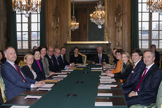 The foreign relations committee gathered at the Royal Palace.