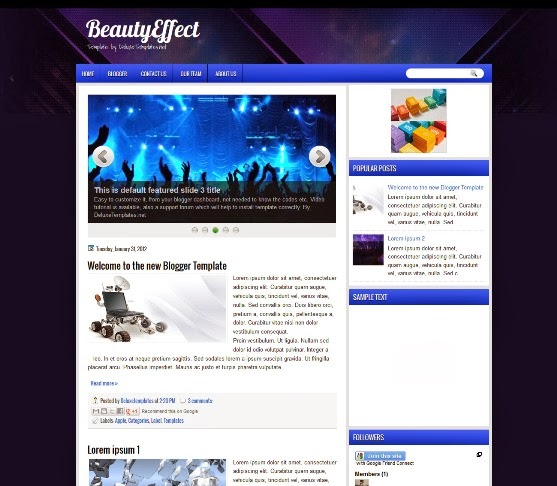 BeautyEffect Blogger Template