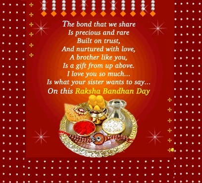 Happy Raksha Bandhan Poems, Happy Rakhi Poems for Brothers and Sisters