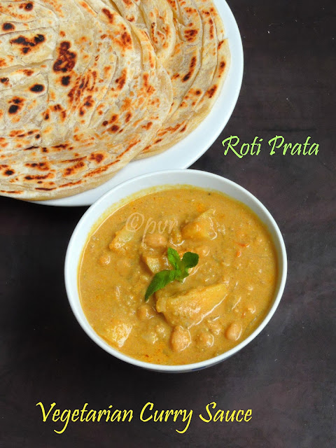 Roti Prata with curry sauce