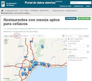 Conjunto de datos de restaurantes para celíacos (modo mapa)