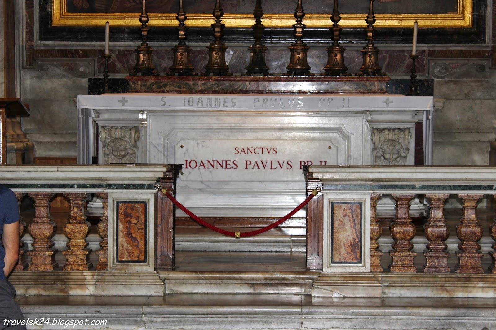 Grobowiec Jana Pawła II w Bazylice św. Piotra