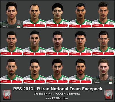 PES 2013 Iran NT Facepack by H.F.T