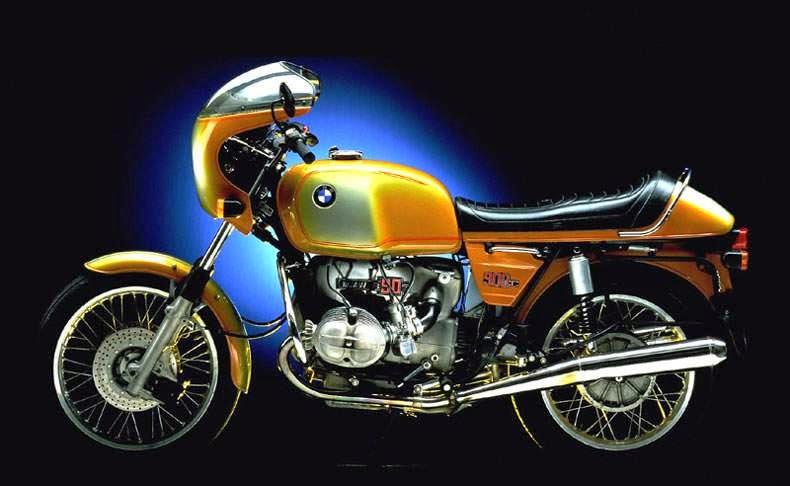 BMW+R90S++Lateral+Amarela - 40 anos : BMW R90S 1974 x BMW R NineT 2014