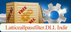 Latticeallpassfilter.dll Hatası çözümü.