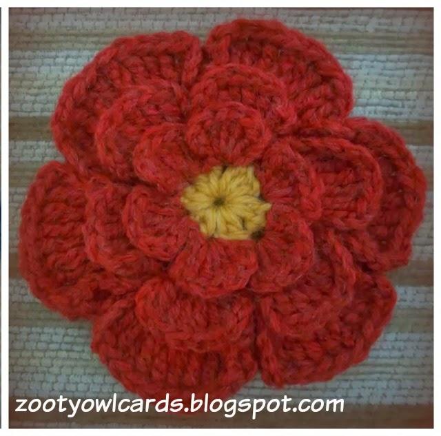 Zooty Owls Crafty Blog: Big Flower Crochet Brooch: Pattern