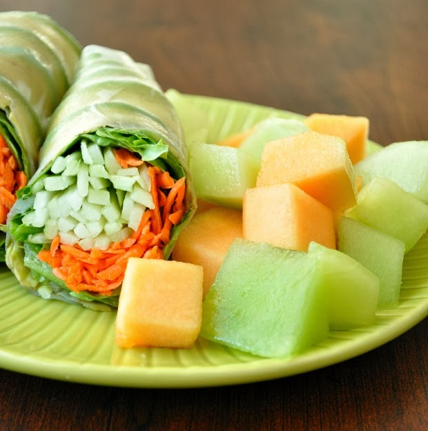 Cucumber Carrot Avocado Salad Wraps