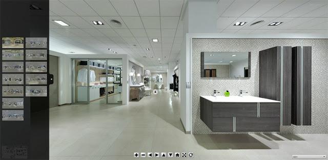 Diseno De Baños Virtual:Marzua: Visite el showroom de Gamadecor desde donde quiera que esté