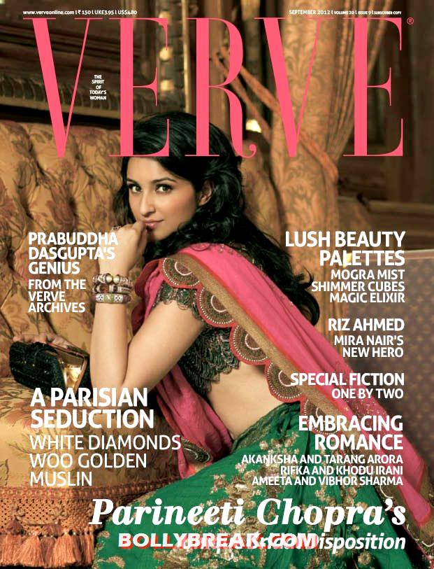 Parineeti Chopra Hot on Verve magazine Cover - Parineeti Chopra on cover of Verve Magazine September Issue