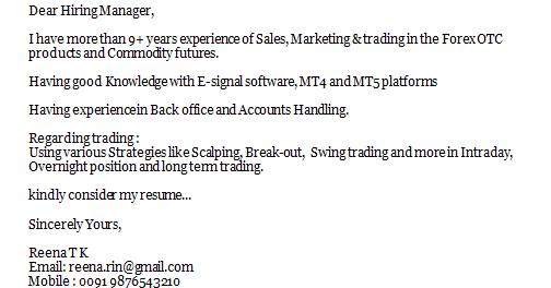 application letter sle
