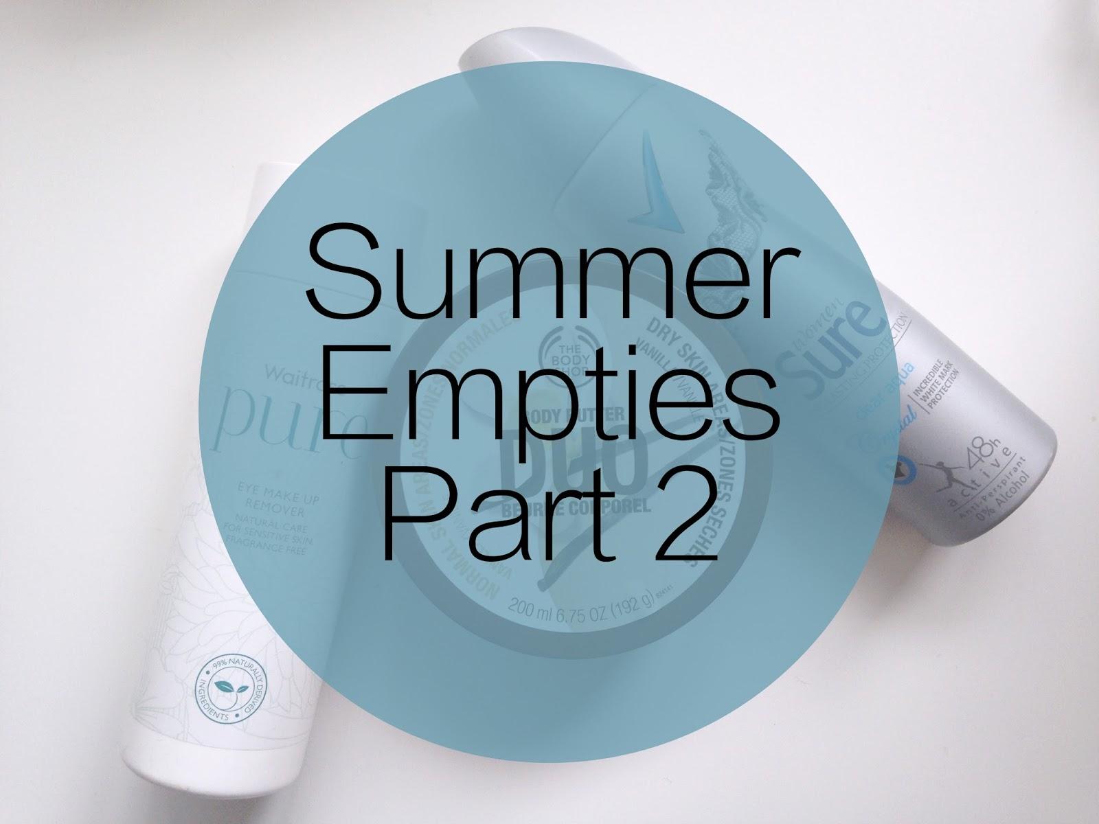 Summer Empties Part 2