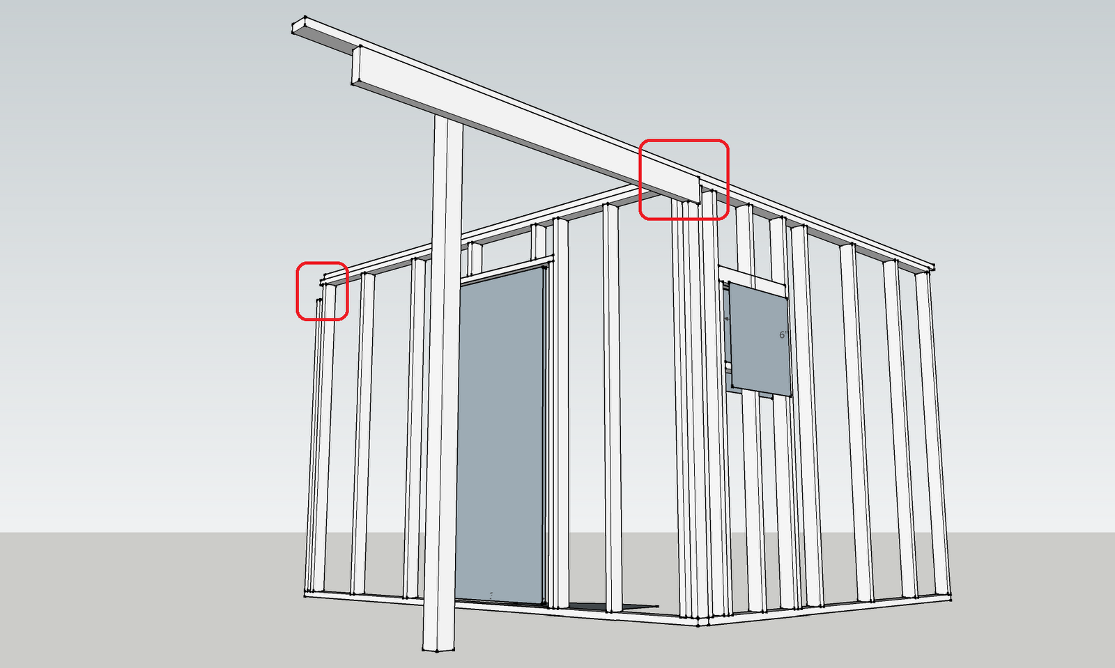 Jay builds a house: Top plates & porch beam