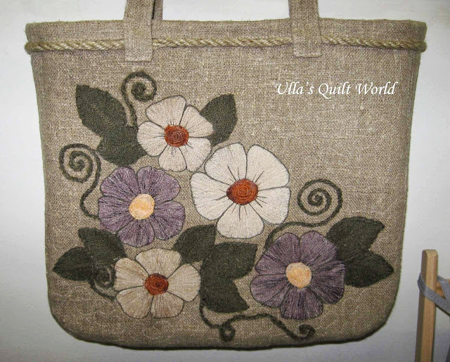 Ulla s quilt world quilted applique bag flowers