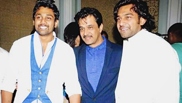 Dhruva Sarja&nbsp with Arjun Sarja and Chiranjeevi Sarja
