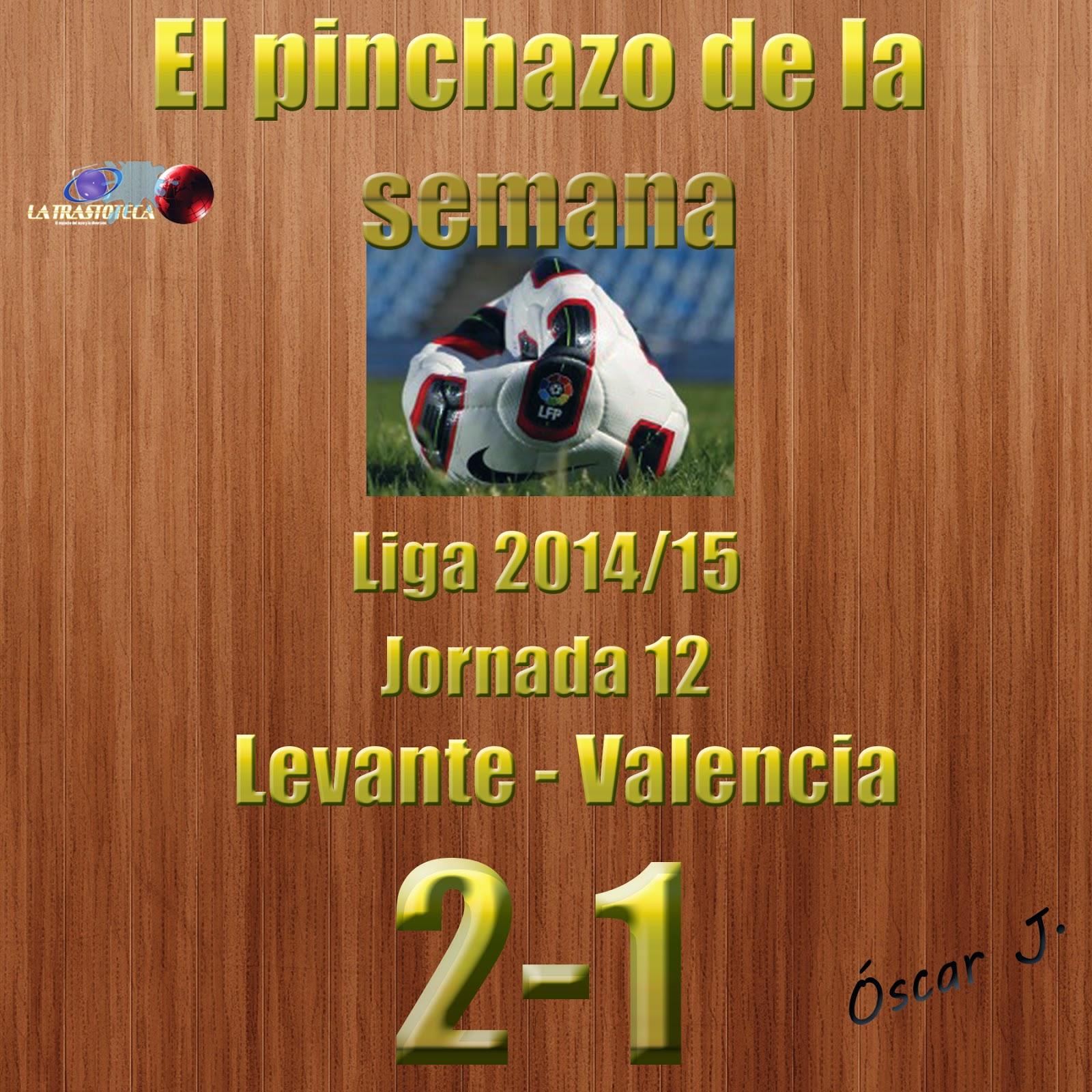 Levante 2-1 Valencia. Liga 2014/15 - Jornada 12. El pinchazo de la semana.