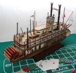 maqueta barco a vapor de ruedas
