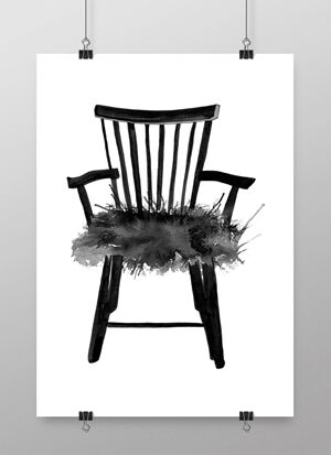 konsttryck stol, tavlor med stolar, stol, stolen, stolarna, design, designstol, designstolar, på väggen, posters, poster, printm prints, svartvitt, svartvita, svart och vitt, affischer, plakater, nettbutikk, nettbutikker, plakat, karmstol, karmstolar, pinnstol, pinnstolar, annelies design & interior, webbutik, webbutiker, webshop
