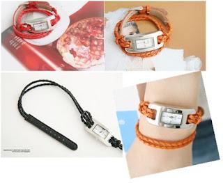 fashionable braided watch